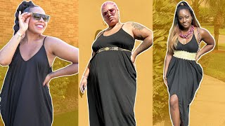 Women Try OneSizeFitsAll Black Owned Maxi Dress