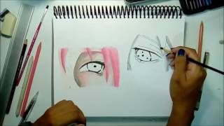 How to draw SasuSaku/Como dibujar SasuSaku