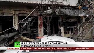 Americans killed Manbij, Syria bombing thumbnail
