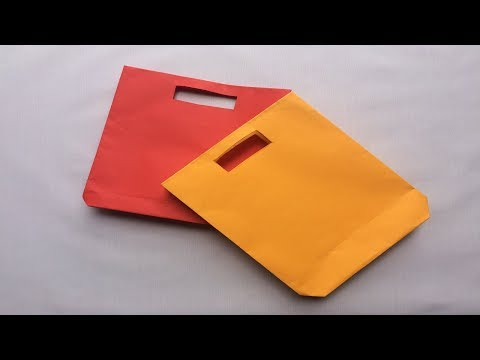 How to make a paper bag   Paper Crafts How to Make Easy Handmade Paper Bag