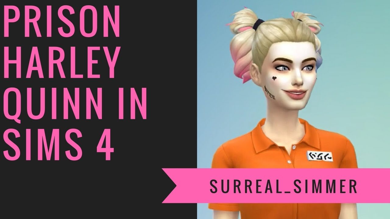 prison harley quinn in sims 4 surreal simmer youtube
