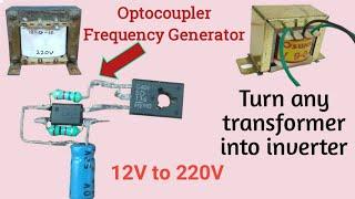 12V to 220V inverter | Optocoupler Inverter | Very easy