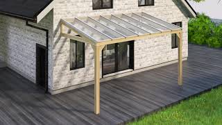 Montering af glastag til udestuer, terrasser og halvtage