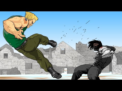 WINTER SOLDIER Vs. GUILE Vs. CROSSBONES (Full Version) - Super Soldiers Clash