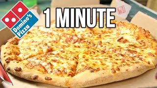 Domino's Medium Pizza in 1 Minute Challenge (vs MATT STONIE vs L.A. BEAST)