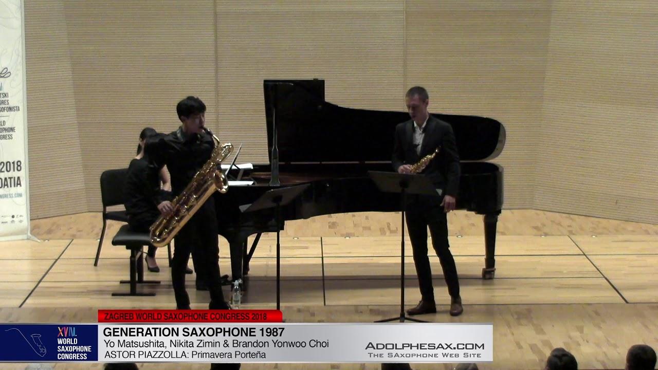 Primavera Porteña by A. Piazzolla - Nikita Zimin & Brandon Jinwoo Choi -WSC2018 #adolphesax