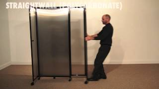 Straightwall Polycarbonate Room Divider By Versare
