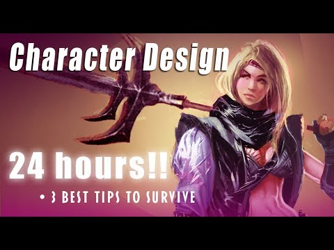 Game Character Design Tips : Best drawing tips on character design in 24 hours: how to survive