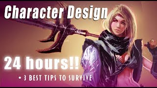 Best Drawing Tips on  Character design in 24 hours: how to survive!!