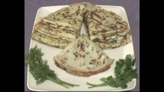 Люблю готовить! Рецепт! Сырные блины с зеленью!
