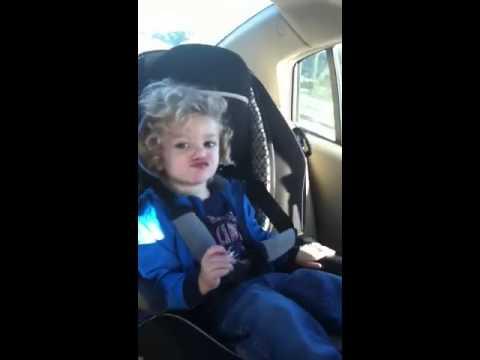 Dancing baby in car seat - YouTube