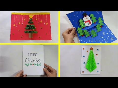 03 Easy DIY Christmas Cards   Handmade Christmas Greeting Cards