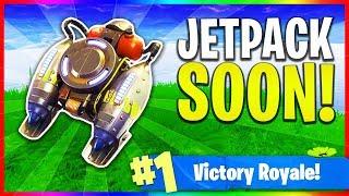 "NEW ""Jetpack"" Gameplay Update Tomorrow! (Fortnite: Battle Royale LIVE Gameplay)"