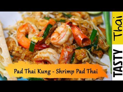 Authentic Shrimp Pad Thai Thai Street Food Noodles with Shrimp