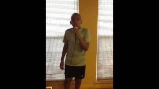 Wesley Wallace  singing Bruno mars it will rain