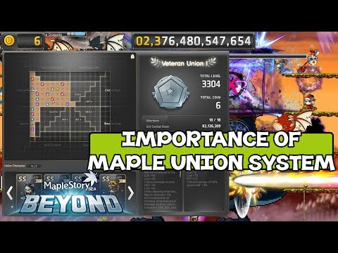 MapleStorySEA Beyond: Importance Of Maple Union System & Leveling Union Characters To Lv140 ~ !