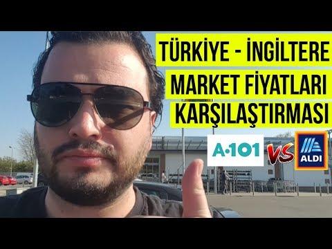 İngiltere Türkiye market fiyat karşılaştırması | Türkiye İngiltere asgari ücret | A101 & Aldi
