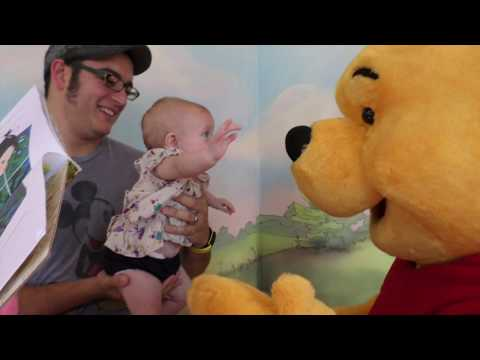 Our 4 Month Old Baby  meets Winnie the Pooh & Piglet too
