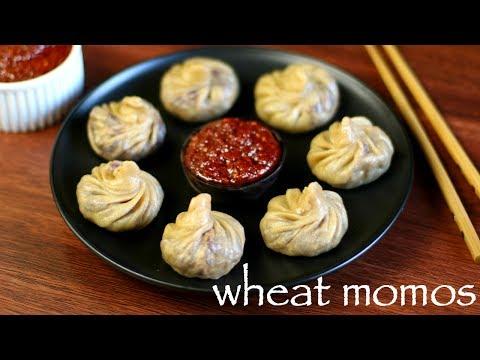 wheat momos recipe | veg wheat momos recipe | atta momos recipe