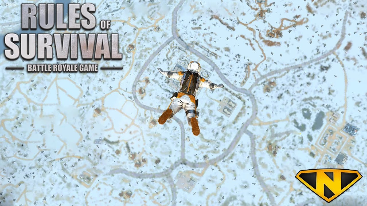 *NEW* Snow Map!! (Rules of Survival: Battle Royale #95)