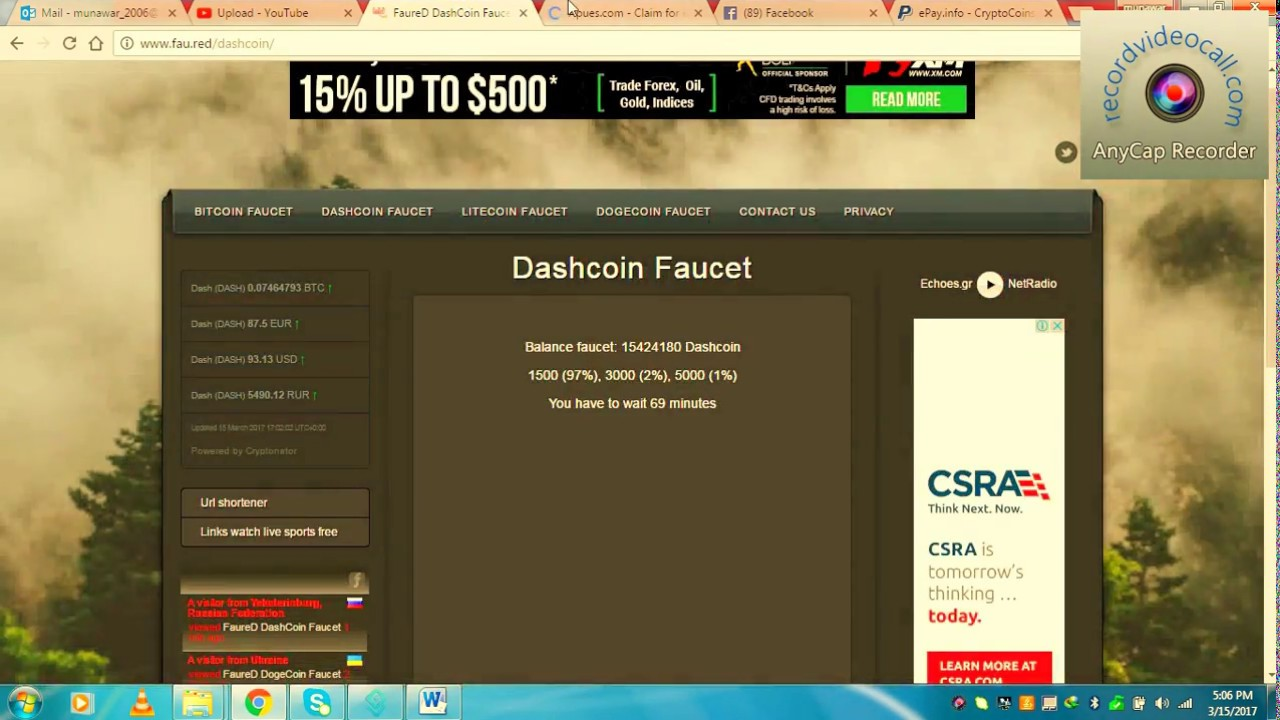 Dash coin faucets 2017 in pakistan - YouTube