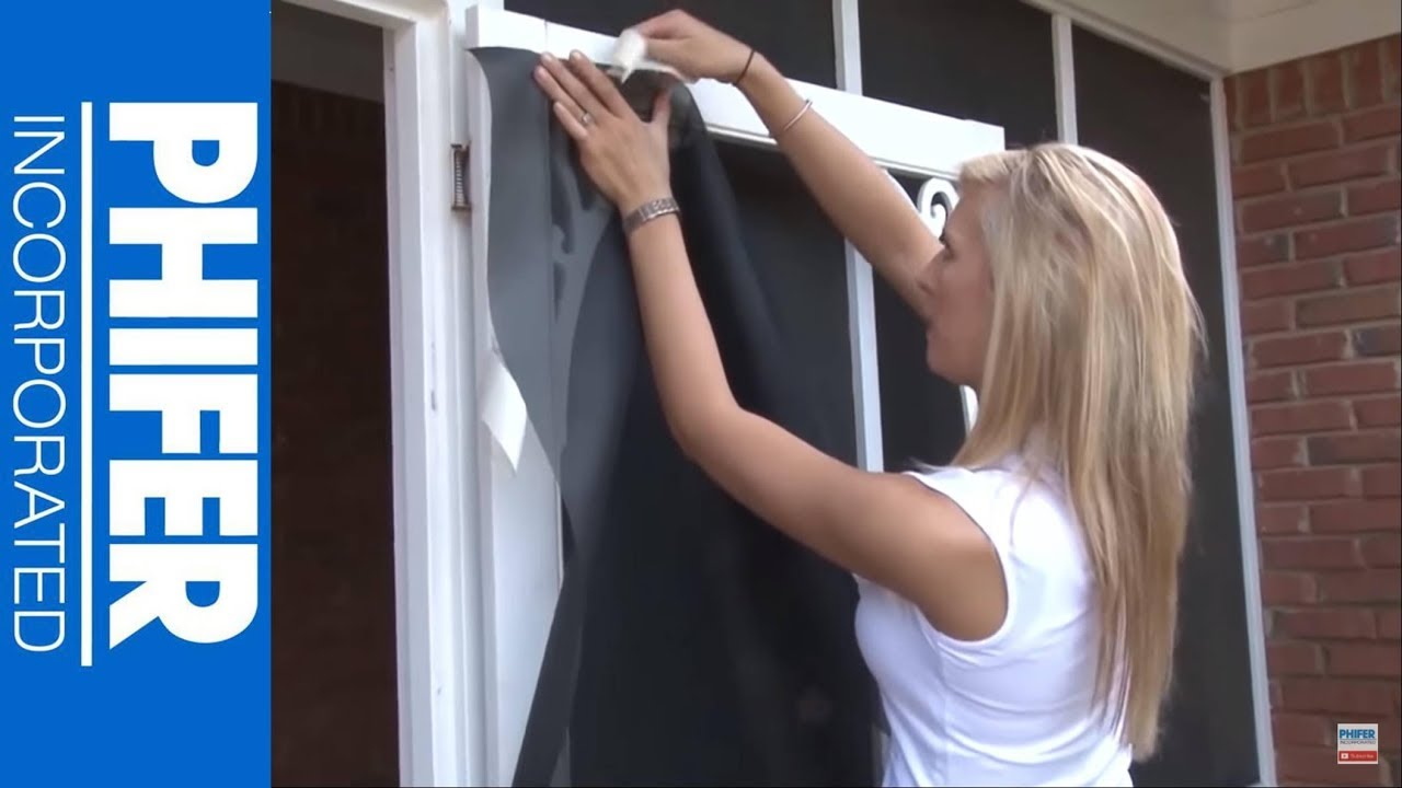 How To Replace Screen Door Using Petscreen Phifer Inc Youtube