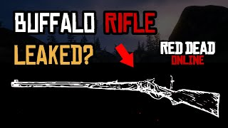 Buffalo Rifle LEAKED in RDR2 online? Possible new red dead online weapon