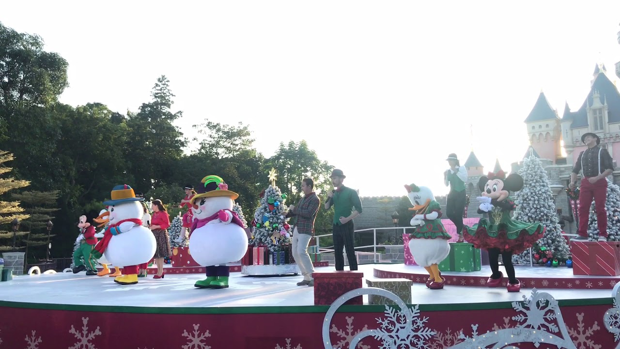 Christmas In Disneyland Hong Kong.Hongkong Disneyland Xmas2017 Mickey And Friends Christmas Time Ball 16 11 2017