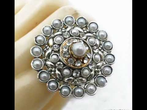 Traditional Designer Wedding Wear Kundan Rings From India