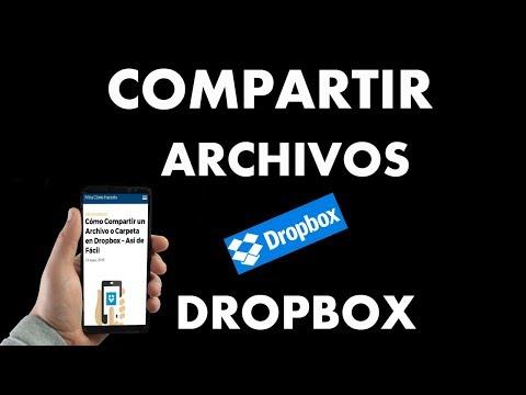 ¿Cómo Compartir un Archivo o Carpeta en Dropbox?