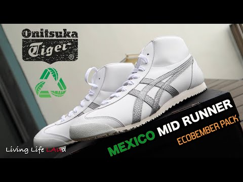 MEXICO MID RUNNER - ONITSUKA TIGER'S 1ST ECO-FRIENDLY SHOES (ECOBEMBER PACK)! | UP-CLOSE & ON-FEET