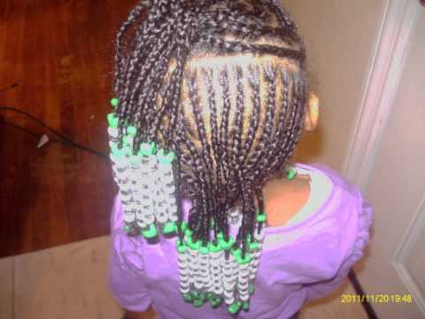 Kim S Baby Beads Braiding Styles For Girls Youtube