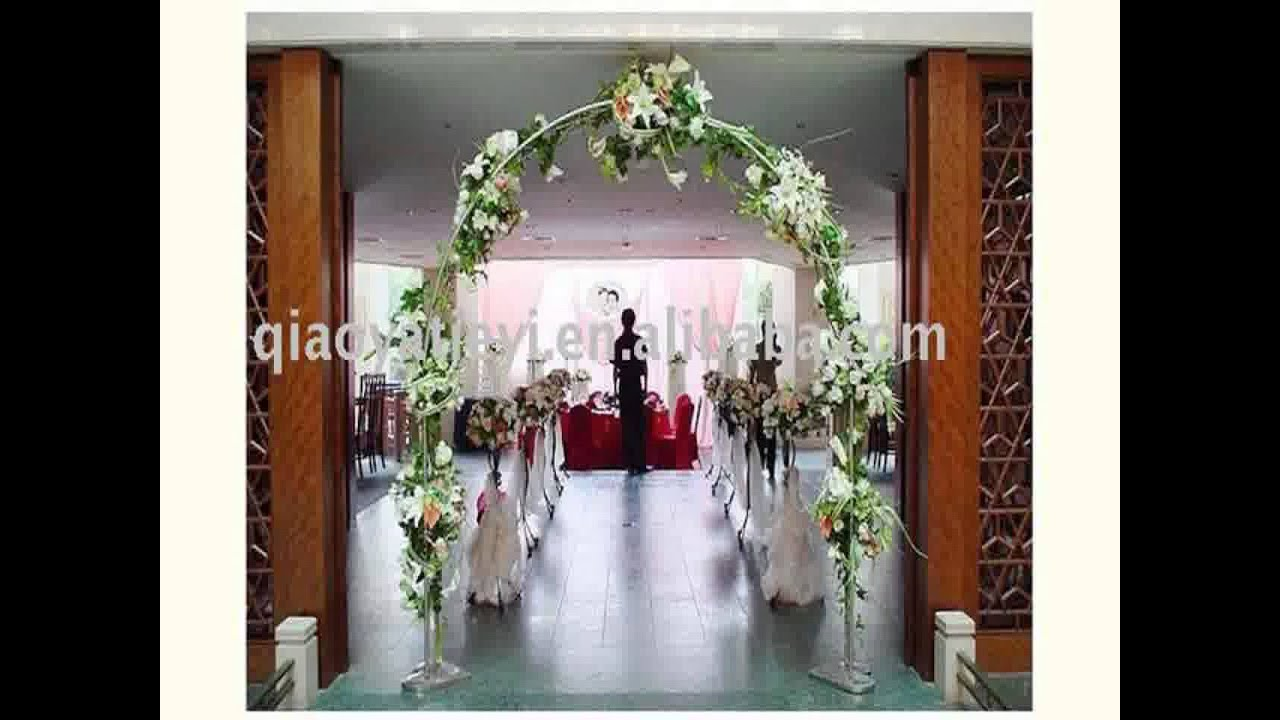 New wedding altar decoration ideas youtube for Wedding decorations home