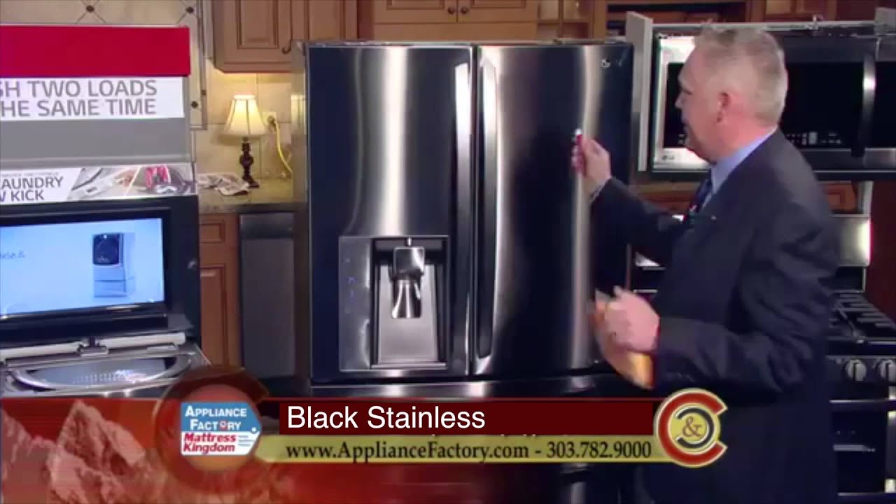 Lg Black Stainless Smudge Proof Demo Youtube