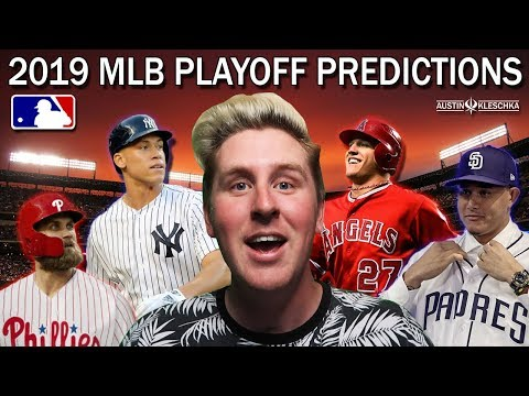 2019 EARLY MLB PLAYOFF PREDICTIONS!