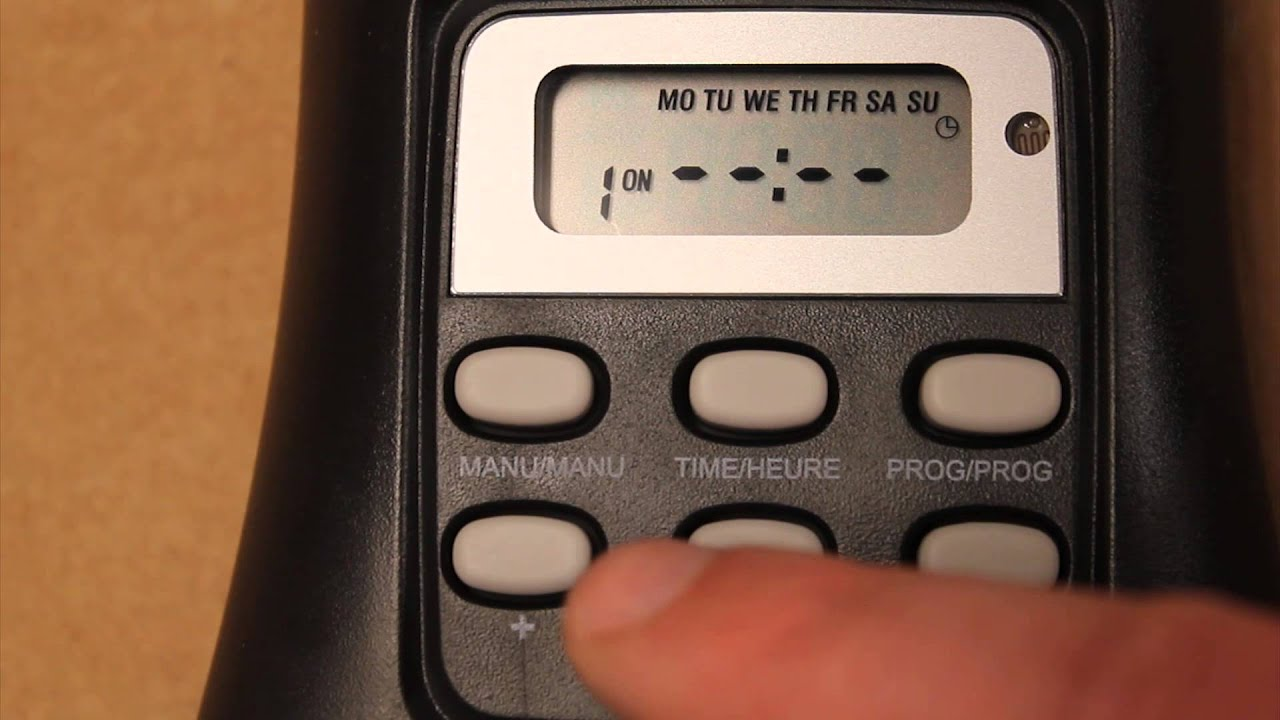 2013 01 04 how to programset the life link tm 074 outdoor timer from home depot youtube - Christmas Light Timers
