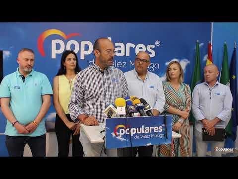 Rueda de prensa Populares de Vélez Málaga asunto de interés municipal EMVIPSA