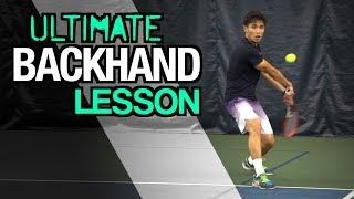 ultimate backhand tennis lesson technique for topspin control