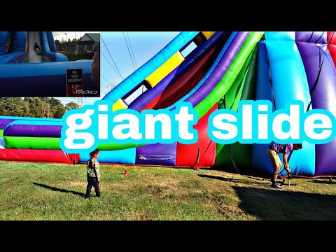 THE WORLD'S BIGGEST BUBBLE SLIDE!!