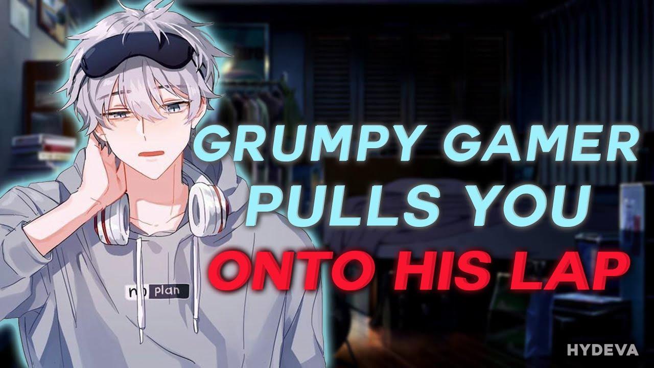 Download Grumpy Gamer Boyfriend Pulls You Onto His Lap [ASMR Roleplay] [M4A] [Cuddling] [Teasing]