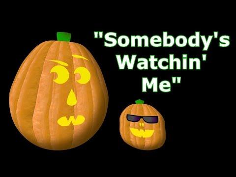 Somebody's Watching Me - Singing Pumpkins Halloween light show 2011