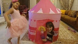 Палатка замок принцессы Авроры.Видео для детей.Игра для детей.