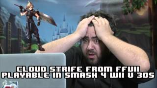 CLOUD FF7 IN SUPER SMASH BROS - Nintendo Direct 11-12-2015 - The Completionist