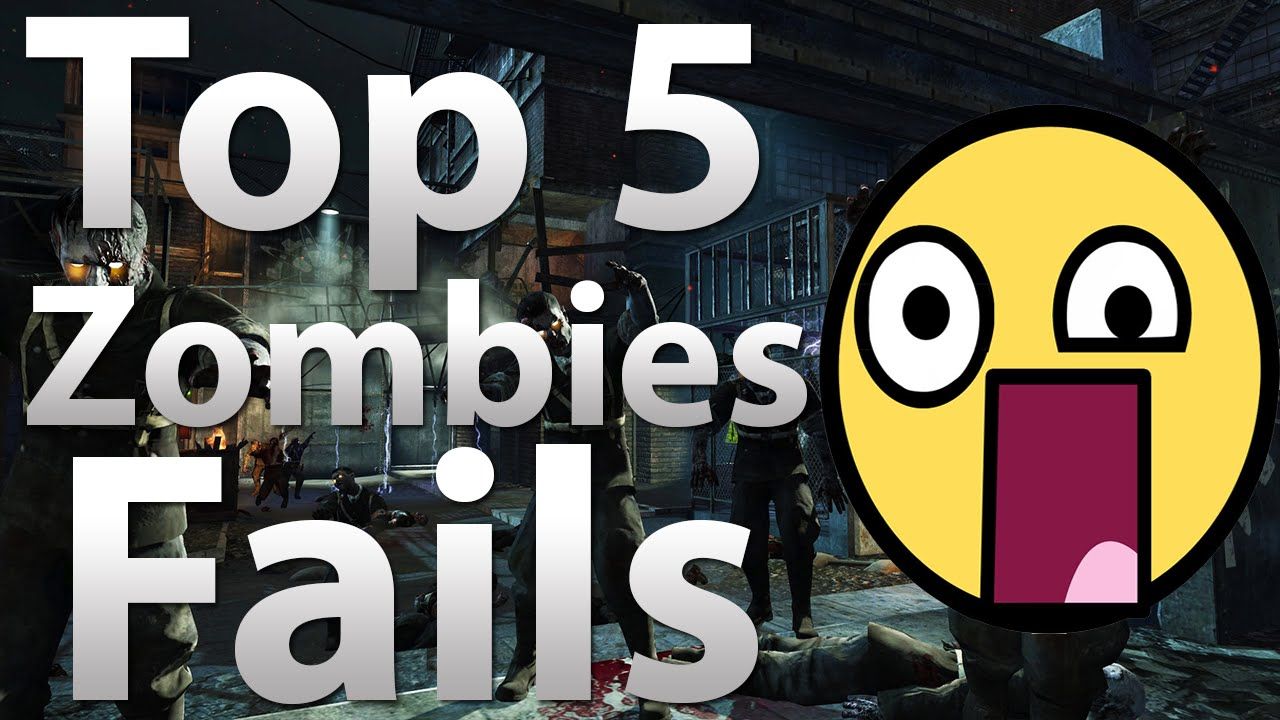 "TOP 5 Fails in ""Call of Duty Zombies"" - Black Ops 2 ..."