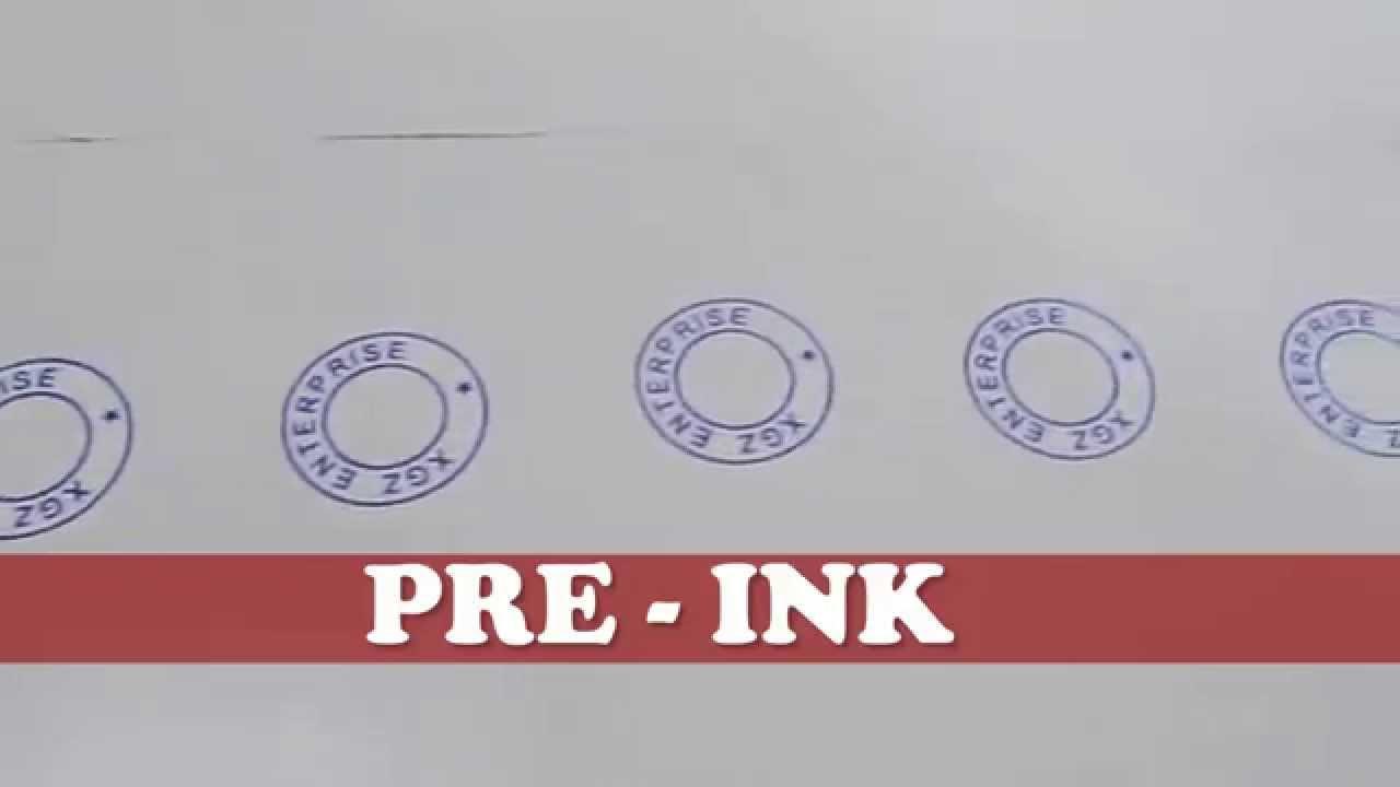 PRE INKED STAMP Vs SELF
