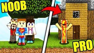 WYSPA NOOBÓW vs WYSPA PRO GRACZA!! - Minecraft Skyblock #3