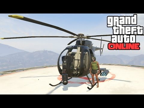 GTA Online: Buzzard Location! How To Get A Buzzard Helicopter For Free (Grand Theft Auto 5 Online)