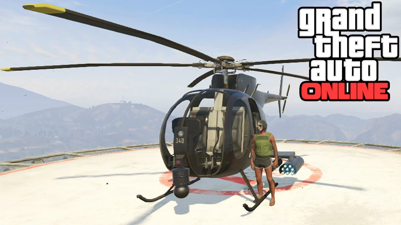 GTA Online: Buzzard Location! How To Get A Buzzard ...