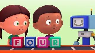 """Развивающий мультик """"Считаем с Полой"""" - цифры для детей. Учимся считать до 4. Починим руку"""