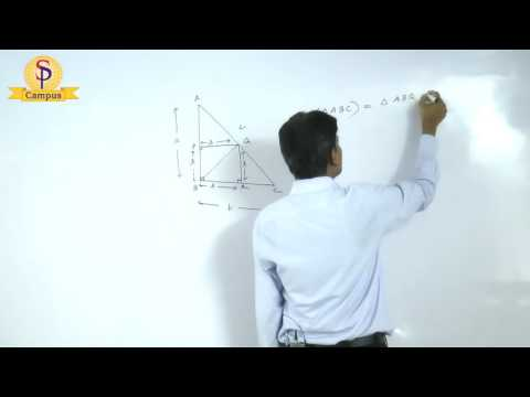 Maths by S P  Pandey Sir Geometry Right angle triangle   Part  I HD